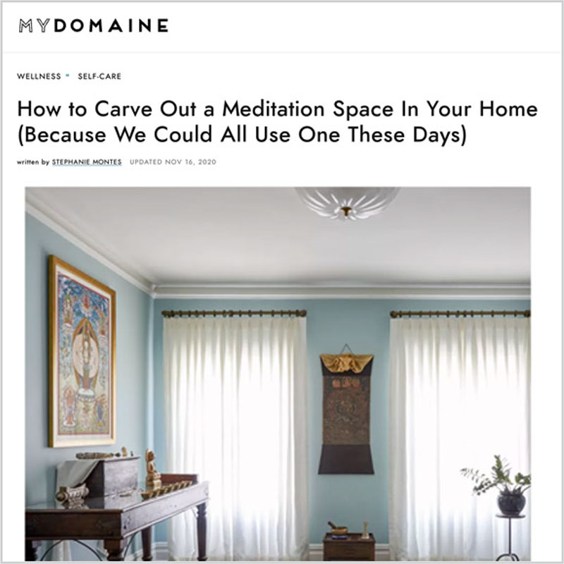 Gala Magriña Design featured in MyDomaine Design Meditation Space