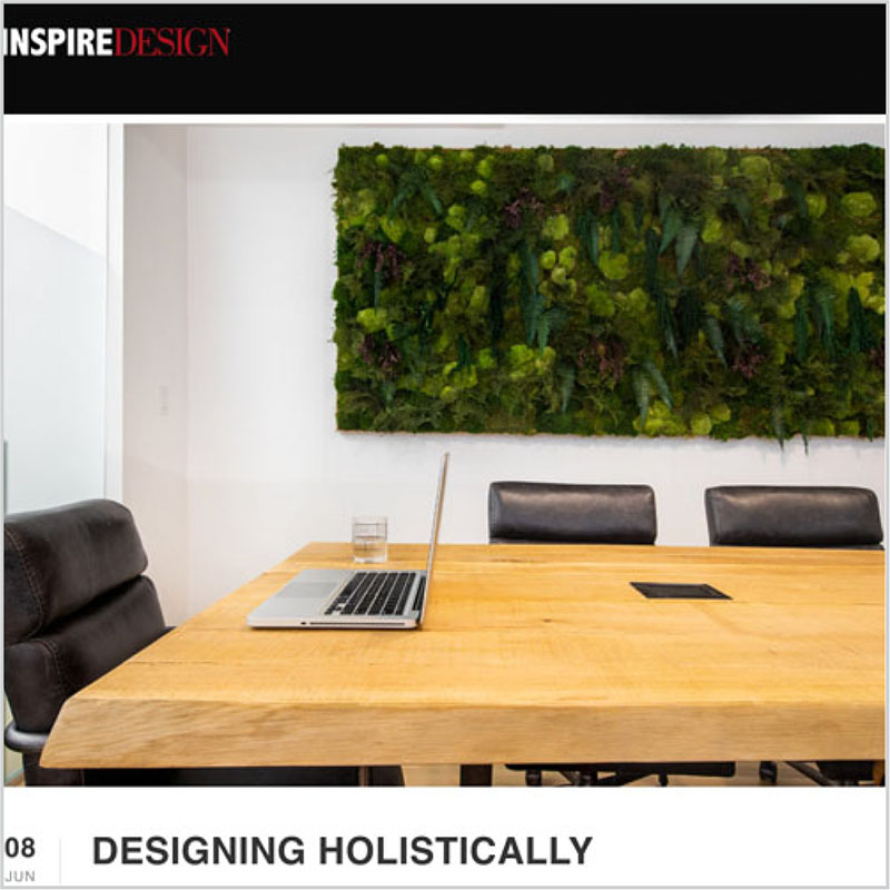 Gala Magriña Design featured in Inspire Design Designing Holistically