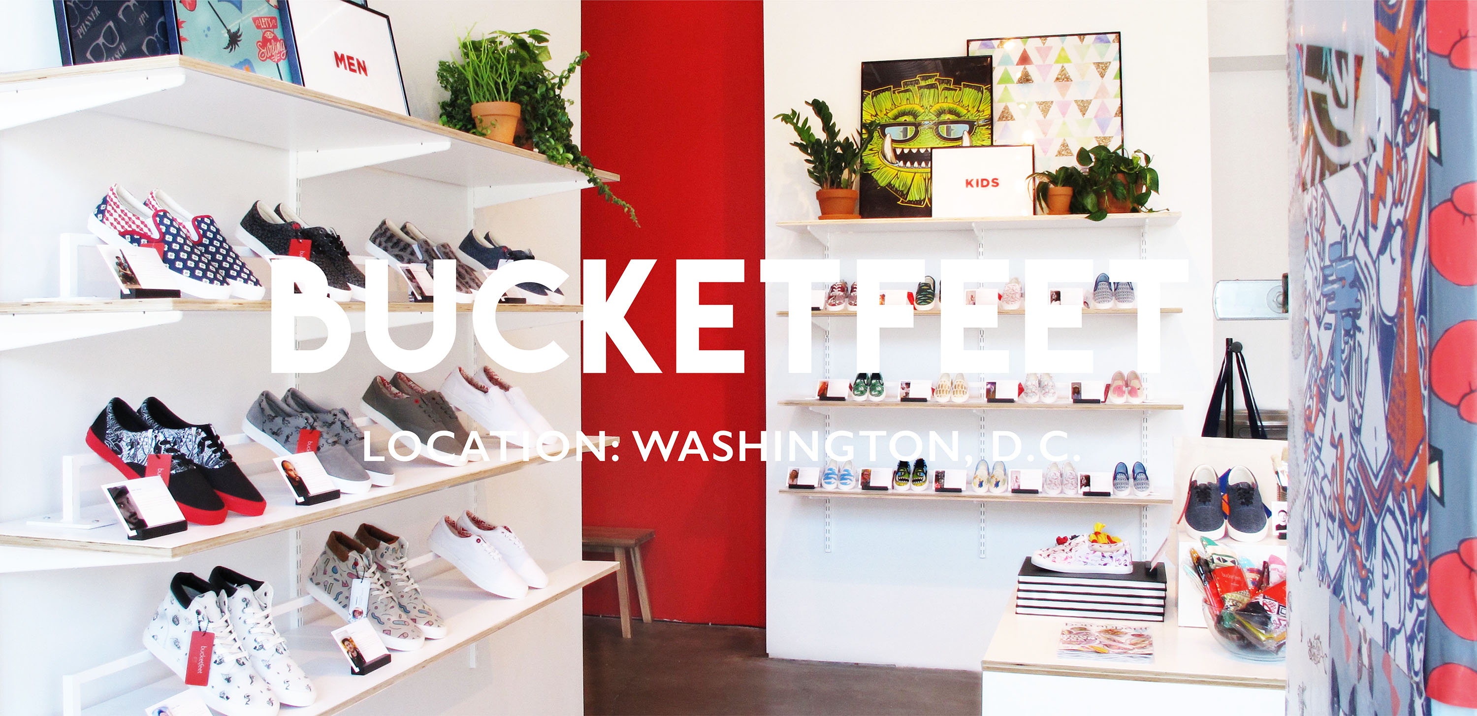 Bucketfeet Shoe Store: Washington, D.C. | Retail space designed by Gala Magriña Design