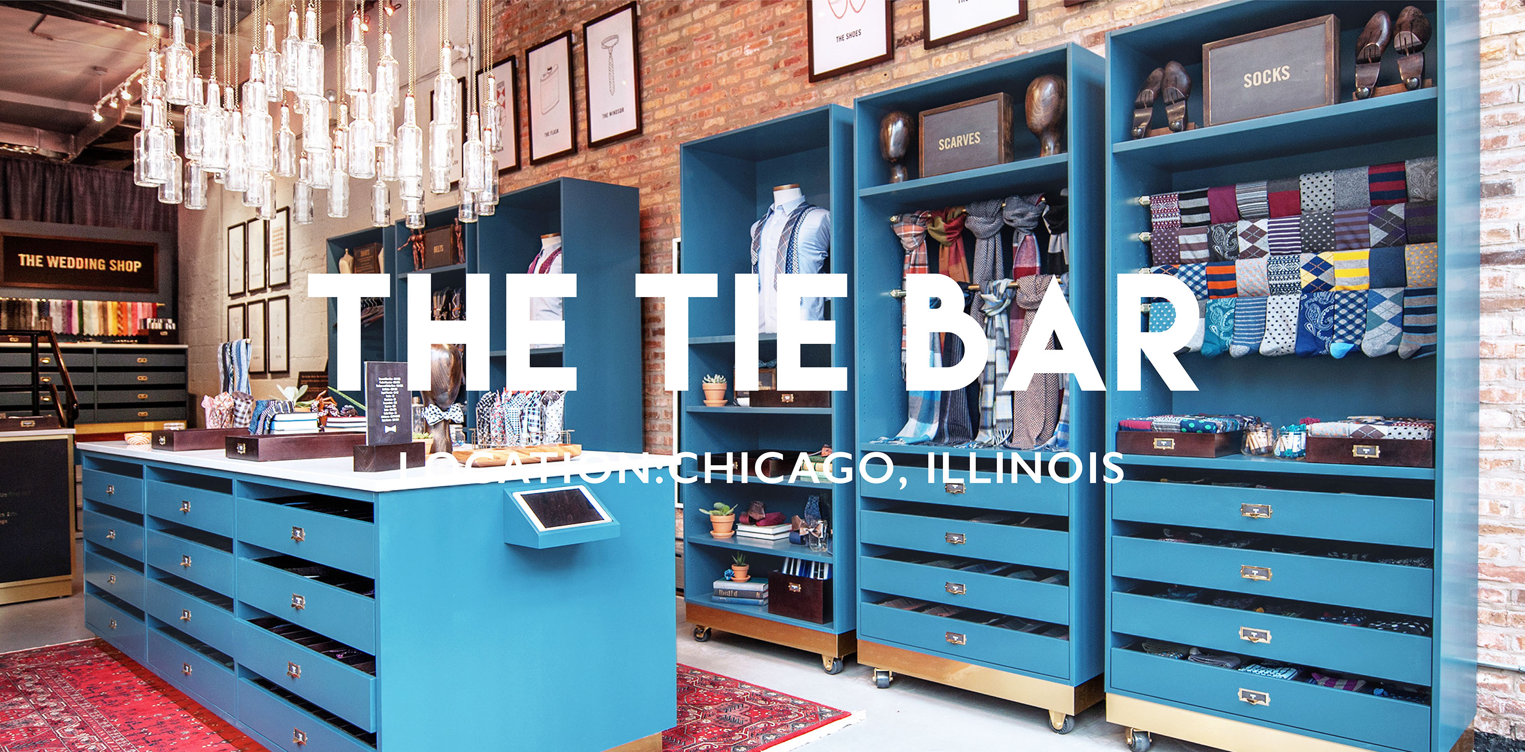 The Tie Bar Brick and Mortar | Location: Chicago, IL | Designer, Gala Magriña Design